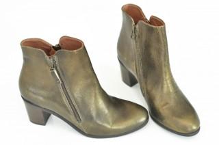 Goldene Vintage Boots mit Reißverschluß