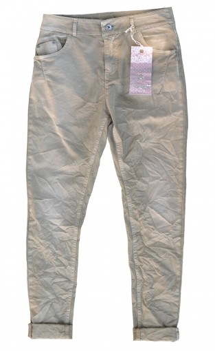 Material Mix Jeans beige