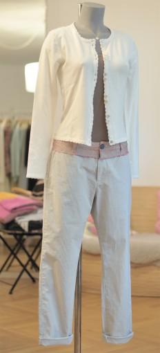 Chino Trousers mit aufgesetztem Bund