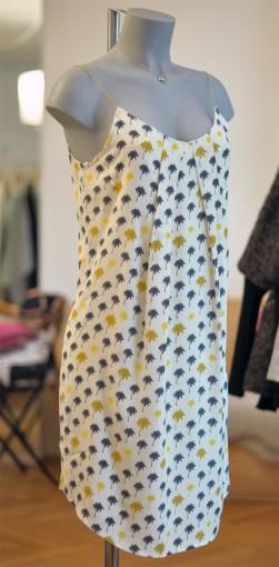 Trägerkleid mit Palmen-Print