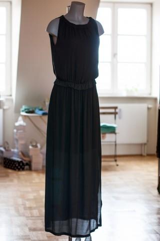 ärmelloses Maxi Kleid in Anthrazit