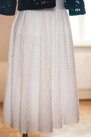weißer Midi -  Tellerrock