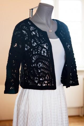 schwarze Cover - Jacke chrocheted