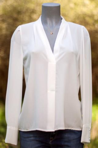 taillierte weiße Bluse Maryley