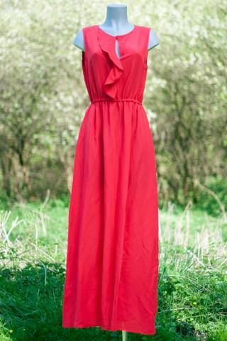 Rotes Maxi-Sommerkleid